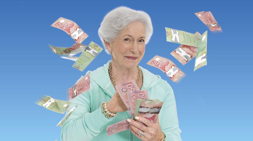 žena s bankovkami
