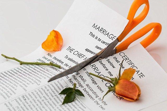 Konec manželství či vztahu