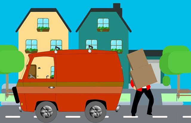 nakreslený obrázek, automobil větší oranžový