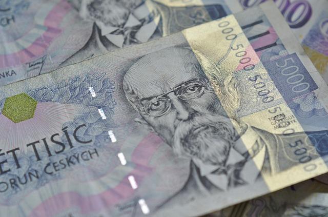 česká měna, bankovka, 5 tisíc