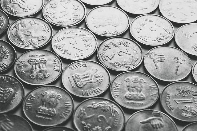 indické rupie, stříbrné mince